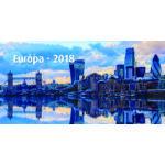 Realsystem Képes asztali naptár, Európa, 2018 - Zöld