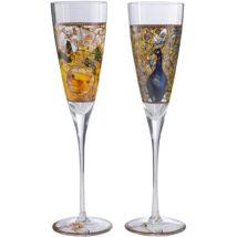 Goebel Artis Orbis - Louis Comfort Tiffany / Pezsgőspohár Szett - Parakeets / Peacock