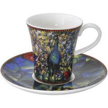 Goebel Artis Orbis - Louis Comfort Tiffany / Eszpresszó szett - Peacock