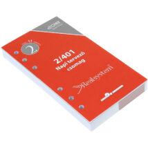 Realsystem Éves Napi tervező csomag M, fehér - 2018