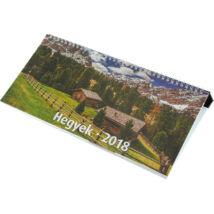 Realsystem Képes asztali naptár, Hegyek, 2018 - Fekete