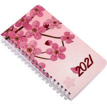 Realsystem Spirál SP 3 mini heti naptár, 2021 - Cseresznyevirág