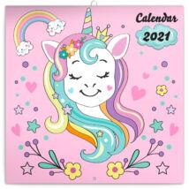 Realsystem Falinaptár, 2021 - Happy Unicorns, matrica tetoválással
