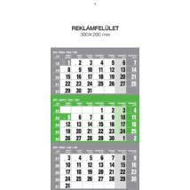 Realsystem Speditőr naptár fejlappal, 12 lapos, 2021 - Zöld