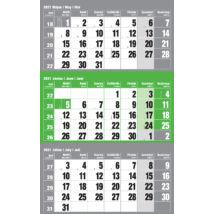 Realsystem Speditőr naptár külön fejlappal, 12 lapos, 2021 - Zöld