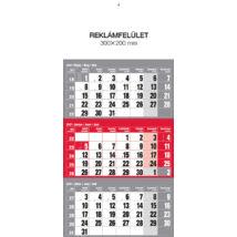 Realsystem Speditőr naptár fejlappal, 12 lapos, 2021 - Piros