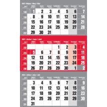 Realsystem Speditőr naptár külön fejlappal, 12 lapos, 2021 - Piros