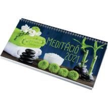 Realsystem Képes asztali naptár, Meditáció, 2021 - Zöld