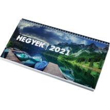 Realsystem Képes asztali naptár, Hegyek, 2021 - Zöld