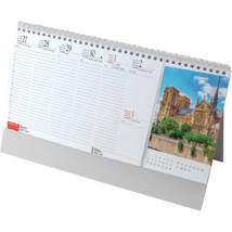Realsystem Képes álló asztali naptár, Európa, 2021
