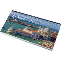 Realsystem Képes asztali naptár, Európa, 2021 - Kék