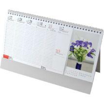 Realsystem Képes álló asztali naptár, Virágok, 2021