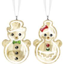 Swarovski Gingerbread Snowman Couple Ornament