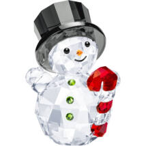 Swarovski Snowman With Candy Cane