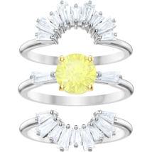 Swarovski Sunshine:Gyűrű szett Czwh/Rhs 55