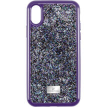 Swarovski Glam Rock iPhone® XS Max:Telefon Hátlap Purple