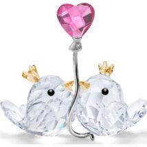 Swarovski Love Birds, Pink Heart