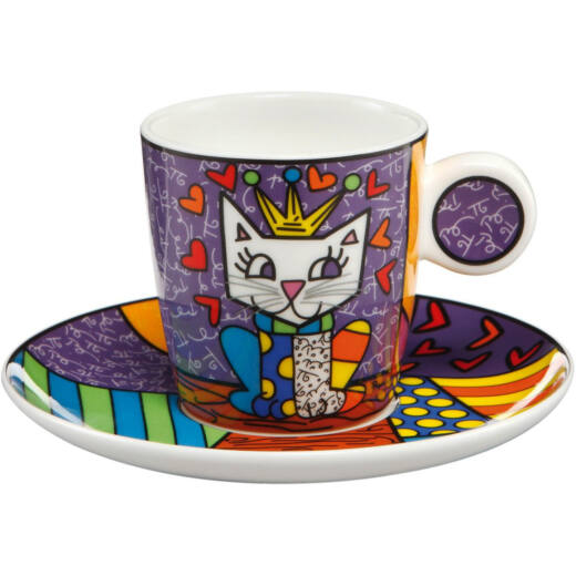 Goebel Pop Art - Romero Britto - Her Royals Highness mokkás szett