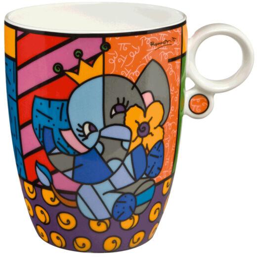 Goebel Pop Art - Romero Britto - Spring Elephant bögre
