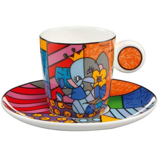 Goebel Pop Art - Romero Britto - Spring Elephant mokkás szett
