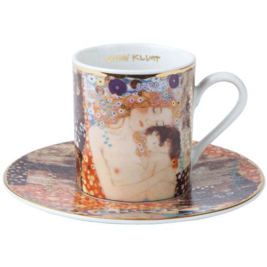 Goebel Artis Orbis - Gustav Klimt / Eszpresszó Szett - Three Ages Of A Woman