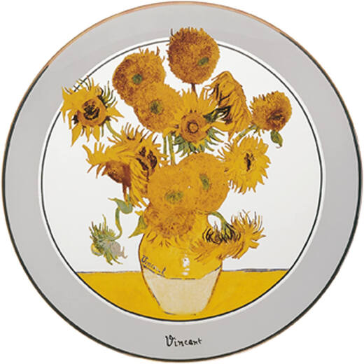 Goebel Vincent Van Gogh / Sunflower - Üvegtányér