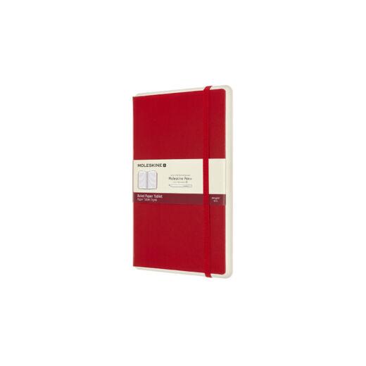 """Moleskine Papertablet Kemény Piros """"L"""" Méret Vonalas"""