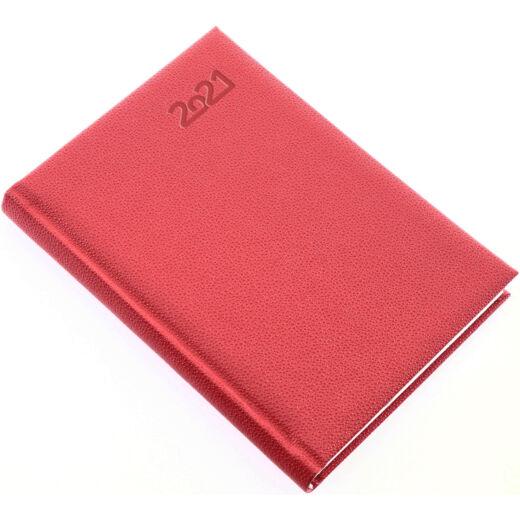 Realsystem Pearl A/5 napi naptár, 2021 - Piros