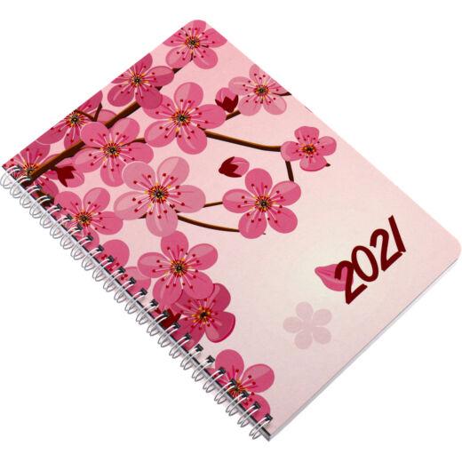 Realsystem Spirál SP 1 A/5 heti naptár, 2021 - Cseresznyevirág
