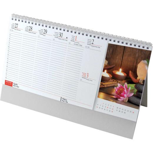Realsystem Képes álló asztali naptár, Meditáció, 2021