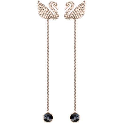 Swarovski Iconic Swan:Fülbevaló Rec Cryrogl/Ros