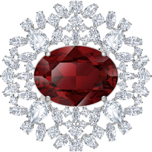 Swarovski Louison Red:Brooch Scar/Rhs