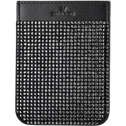Swarovski Smartphone Pocket:Telefon Hátlap Zseb Blk