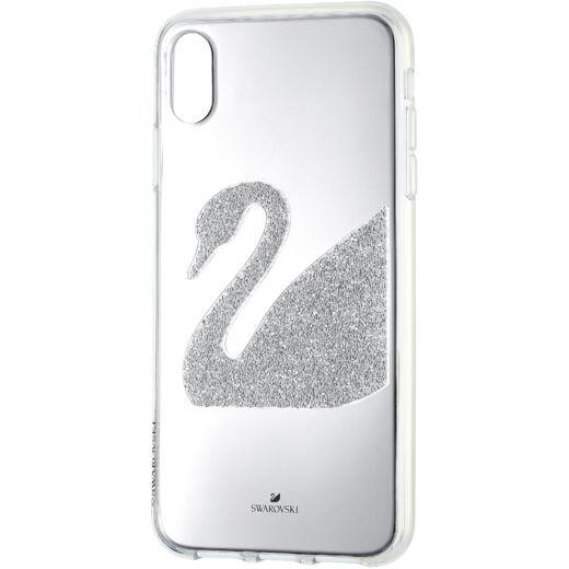 Swarovski Swan Fabric Silver iPhone® XS Max:Telefon Hátlap Sis