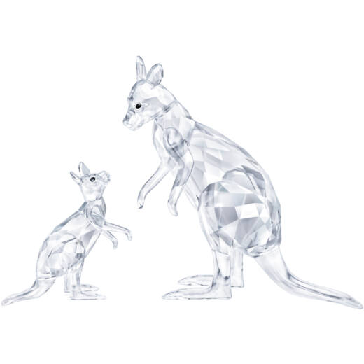 Swarovski Kangaroo Mother With Baby