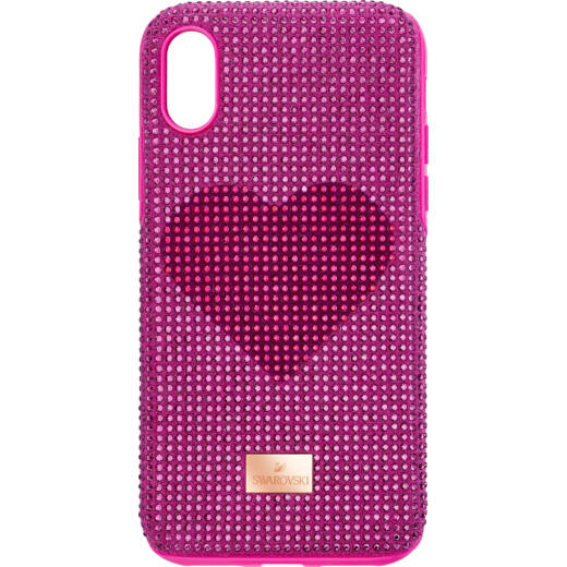 Swarovski Crystalgram iPhone® XS Max:Telefon Hátlap Pink Heart