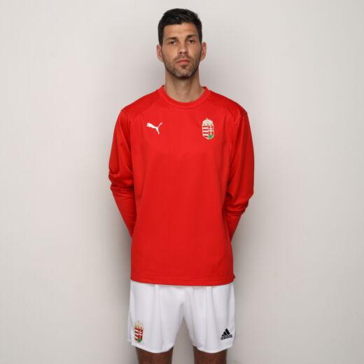 Puma szurkolói hosszú újjú póló Magyarország piros 'L'