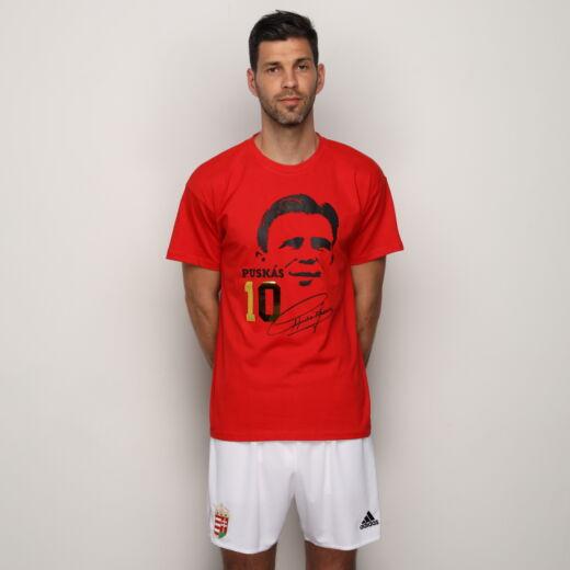 Puskás futball póló piros 'L'