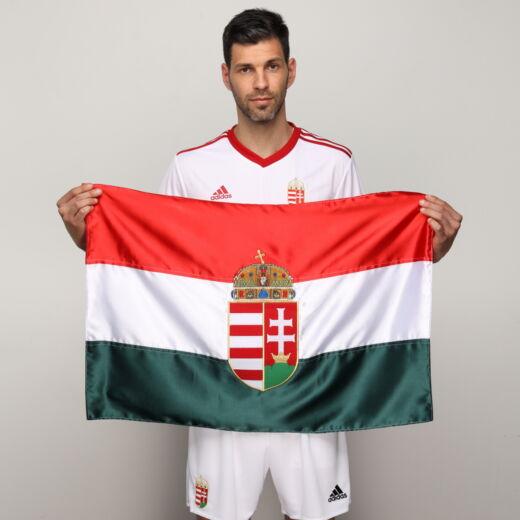 Magyarország szurkolói zászló hímzett 85*56cm