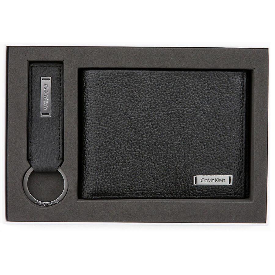 01887109d7 Calvin Klein Pebble W Plaque férfi szett - pénztárca+kulcstartó ...